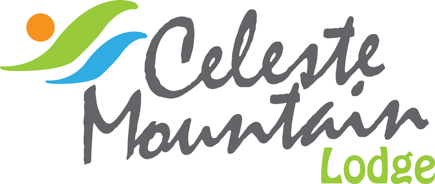 The logo of the Celeste Moutain Lodge in Costa Rica