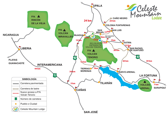 rio celeste costa rica map Celeste Mountain Eco Lodge In Costa Rica Celestemountainlodge Com rio celeste costa rica map