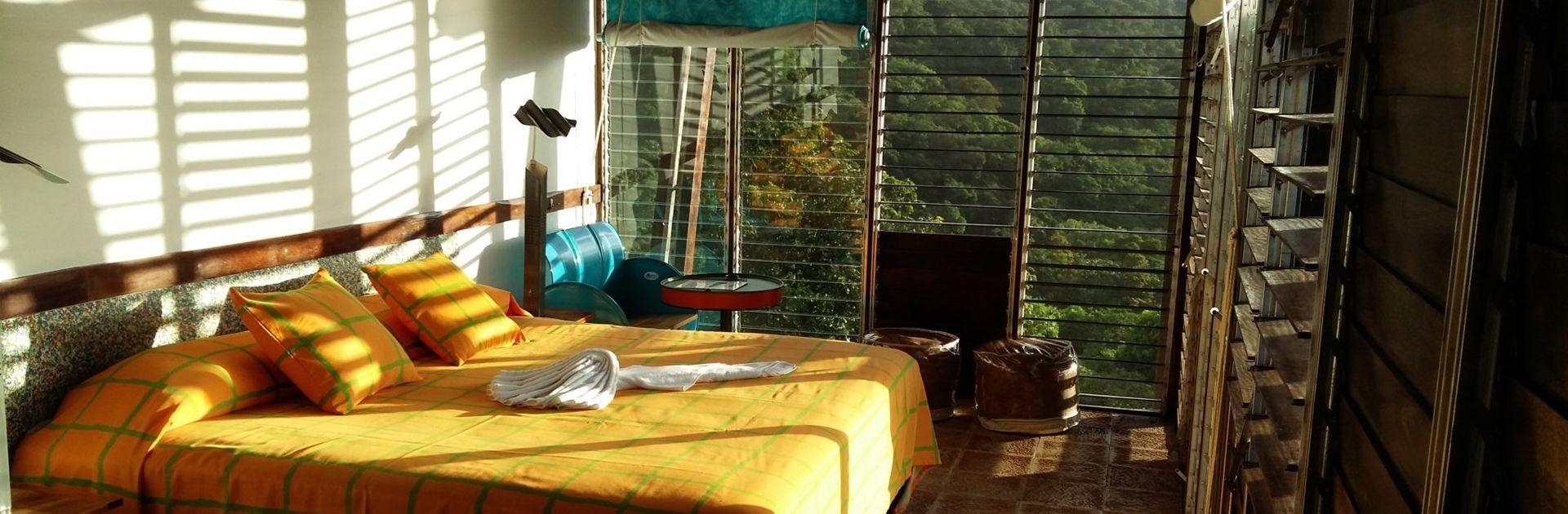 Une chambre de l'hôtel Celeste Moutain Lodge