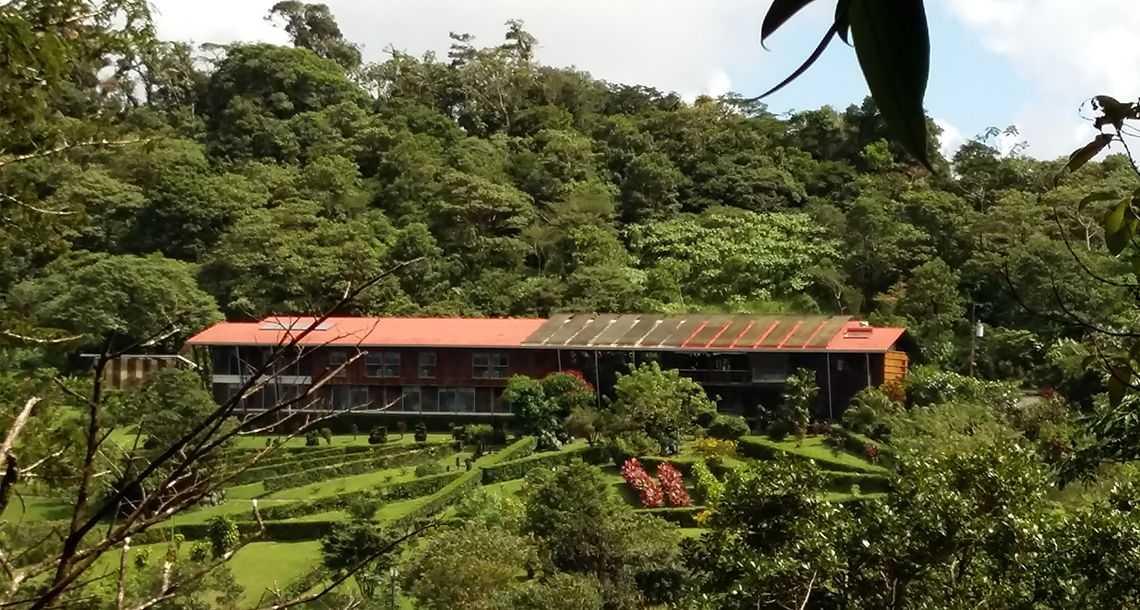 De magnifiques jardins surplombe le Celeste Moutain Lodge